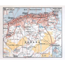 Reproduction ancienne carte scolaire Vidal Lablache n° 24 - PARIS CAPITALE