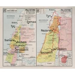 Carte Vidal Lablache 23 BIS et TER - PALESTINE (reproduction ancienne carte scolaire)