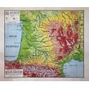 Vidal Lablache n° 28 - ILES BRITANIQUES (reproduction ancienne carte scolaire)