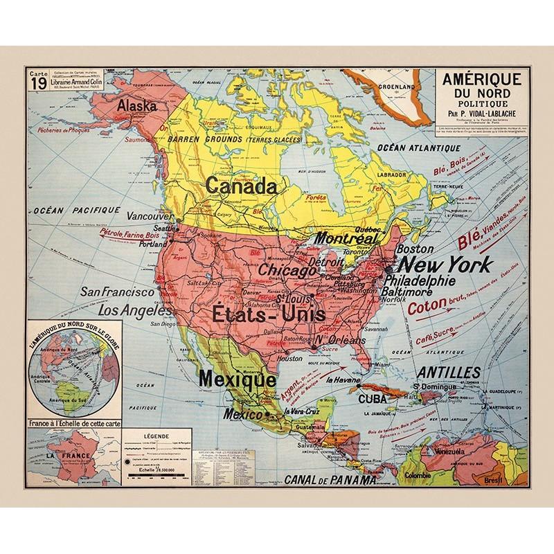 """Résultat de recherche d'images pour """"Amérique du Nord Cartes"""""""