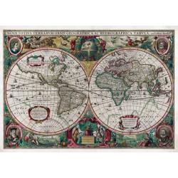 Carte du Monde Antique - NOVA TOTIUS TERRARUM ORBIS GEOGRAPHICA AC HYDROGRAPHICA TABULA