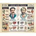 Carte Vidal Lablache 38 - TUNISIE POLITIQUE ET PHYSIQUE (reproduction ancienne carte scolaire)