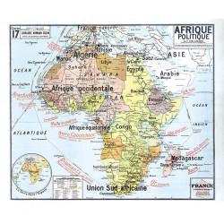 Carte Vidal Lablache 17 - AFRIQUE POLITIQUE (reproduction...