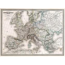 Carte Vidal Lablache 31 - ESPAGNE ET PORTUGAL (reproduction ancienne carte scolaire)